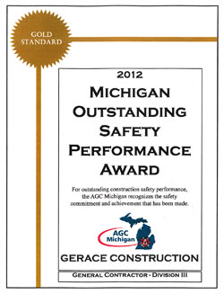 Michigan Outstanding Safety Performance Award
